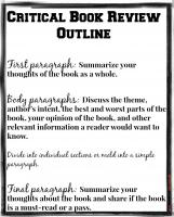 加拿大Essay代写 书评outline