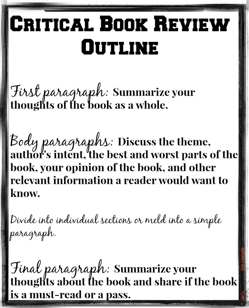 critical critical reviews just for books