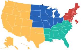 美国大学排名 地方性大学分布
