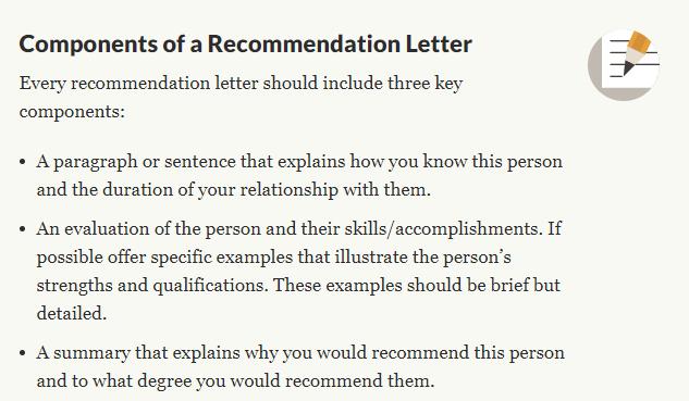 推荐信 recommendation letter怎么写