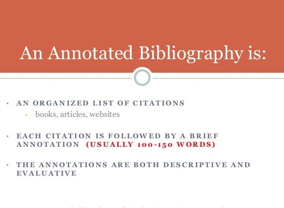 悉尼论文代写 annotated bibliography