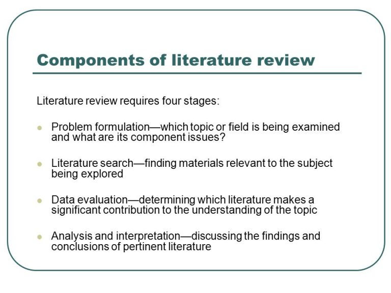Assignment代写 Literature Review