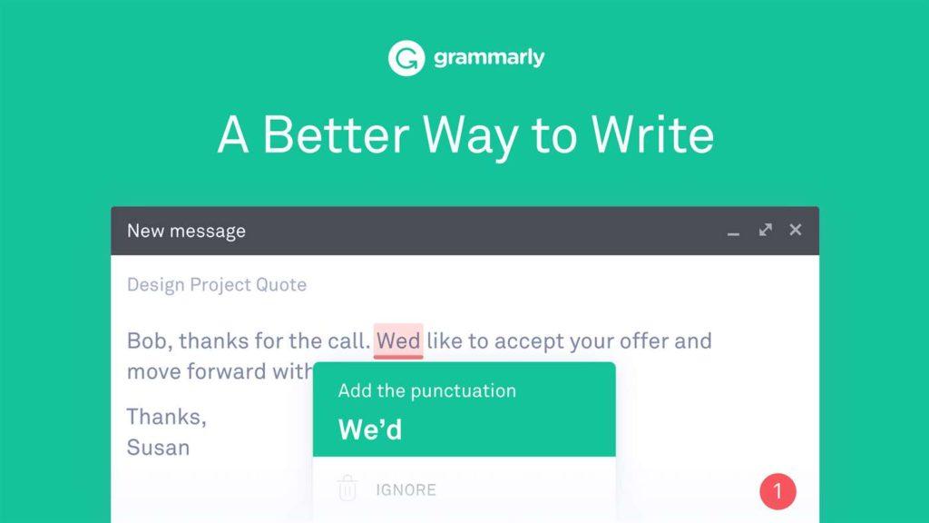 英语语法检查网站 Grammarly