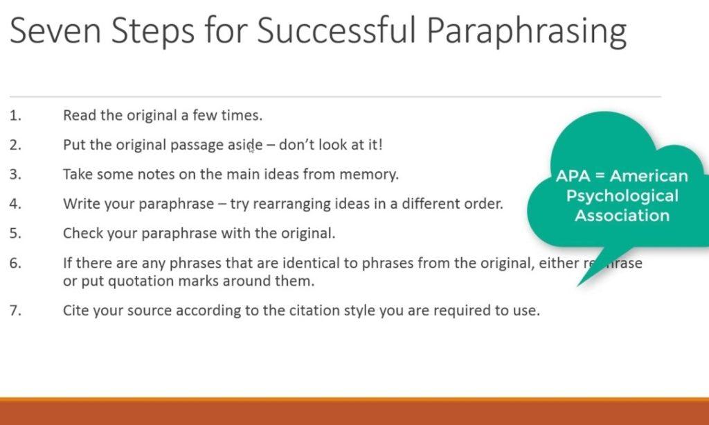英文改写 Paraphrase的步骤