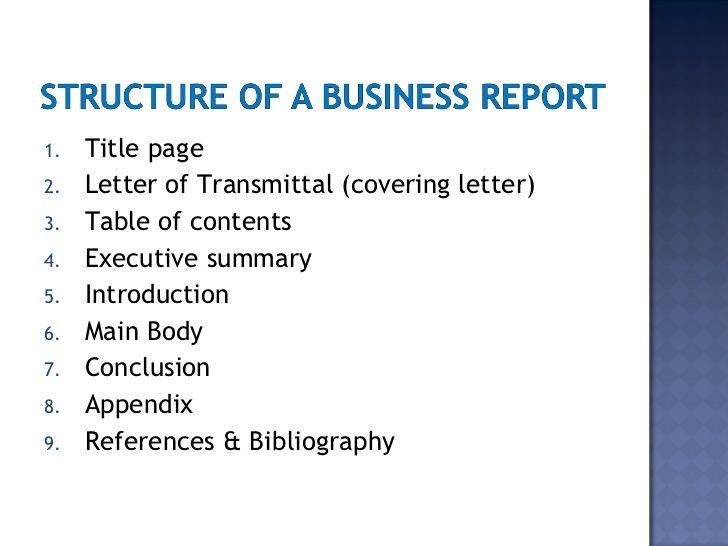 英国business代写 business report structure
